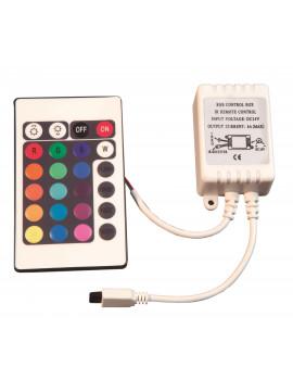 Controlador Infrarrojos Tiras RGB 12V/24V
