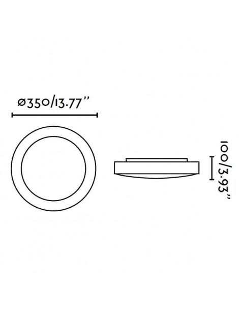 Plafón Logos-2 2xE27