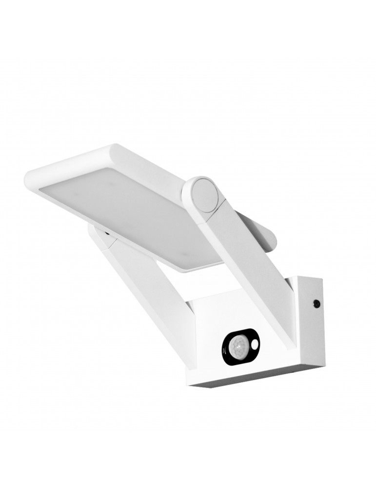 Aplique solar exterior con sensor presencia proa 1 6w for Aplique exterior solar led