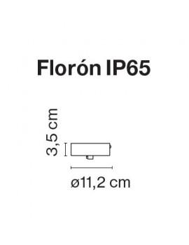 Accesorio florón IP65 Gris Santorini