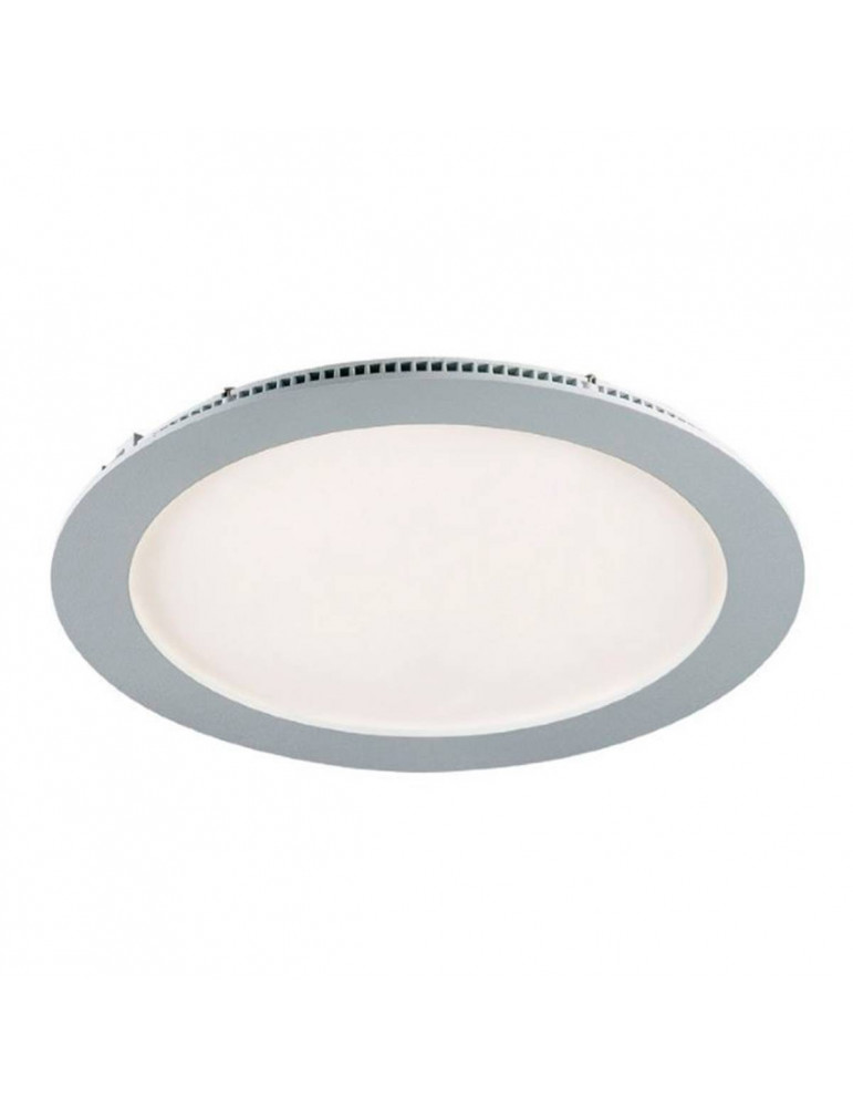 Downlight led 18w empotrable redondo acabado blanco o gris for Downlight led extraplano