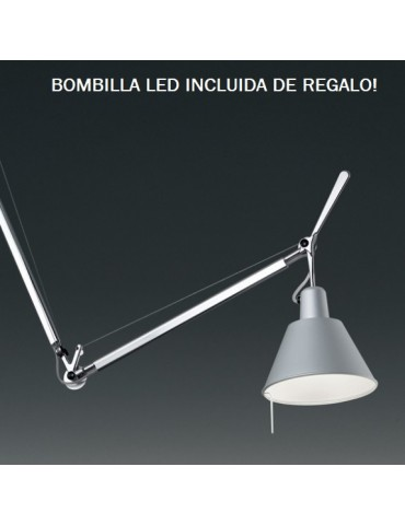 Colgante Tolomeo Decentrata c/Difusor Aluminio 1xE27