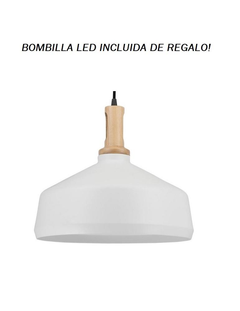 Colgante Campana Blanco V 1xE27