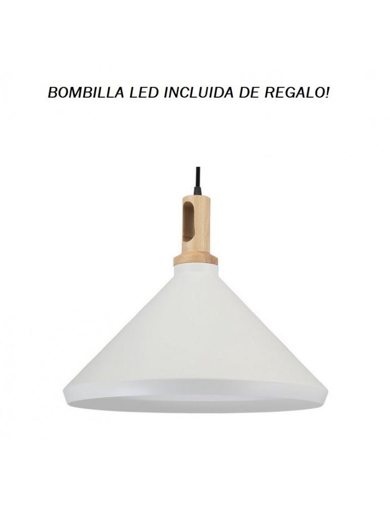 Colgante Campana Blanco IV 1xE27
