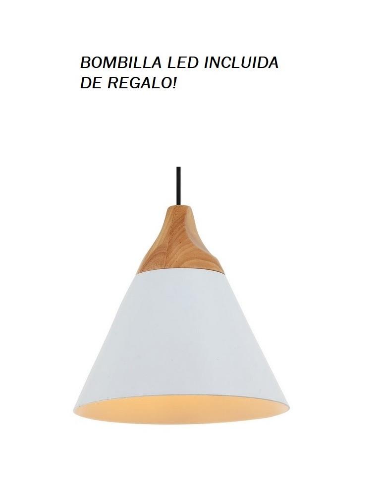 Colgante Campana Blanco II 1xE27