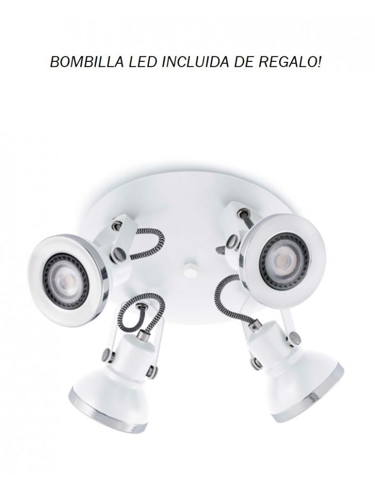 Spotlight/Plafón Ring 4xGU10 PRUEBA